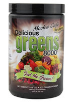 Greens World - Delicious Greens 8000 Mocha Cafe - 10.6 oz.