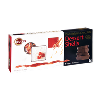 Dobla Dark Belgian Chocolate Dessert Shells - 8 CT