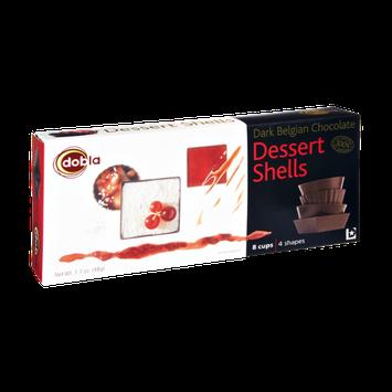 Dobla Dark Belgian Chocolate Dessert Shells - 8 CT