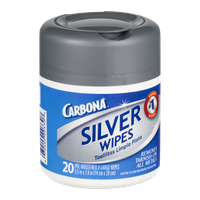 Carbona Pre-Moistened X-Large Silver Wipes - 20 CT