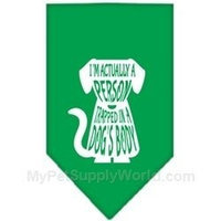 Ahi Trapped Screen Print Bandana Emerald Green Small