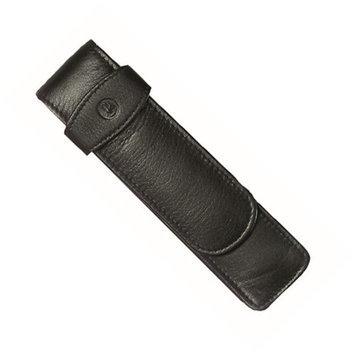 Chartpak Pelikan Black/ Green Leather Double Pen Case