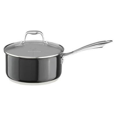 KitchenAid 3 Quart Stainless Steel Saucepan with Lid - Black