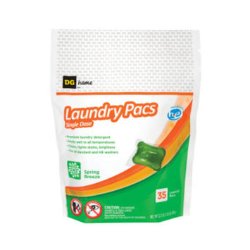 DG Home Laundry Pacs Spring Breeze -35 ct