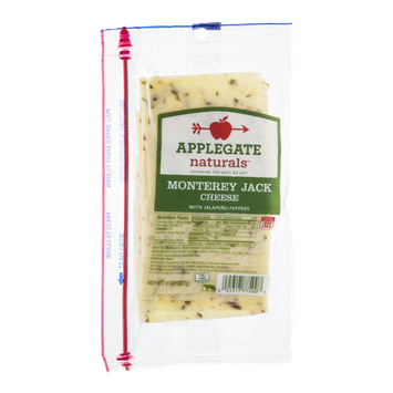 Applegate Naturals Monterey Jack Cheese with Jalapeno Peppers