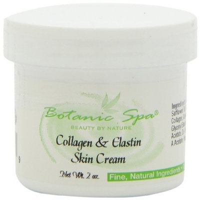 Botanic Choice Collagen and Elastin Skin Cream, 2-Ounce Jar (Pack of 4)