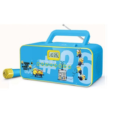 Starlight Minions Portable Sing Along Radio CD Player