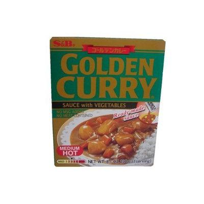 S B S & B Curry Golden Retort Medium Hot, 8.1 Ounce