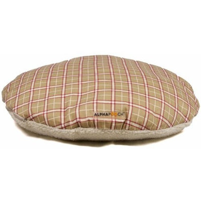 AlphaPooch Drifter Round Dog Bed with Fleece