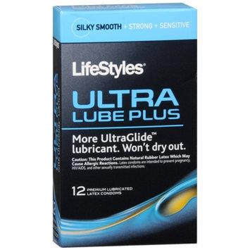 LifeStyles Ultra Lube Plus Premium Lubricated Latex Condoms