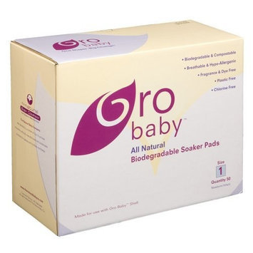 Gro Baby Bio Soaker Pads 50-Count, White, Size 1 (Discontinued by Manufacturer)