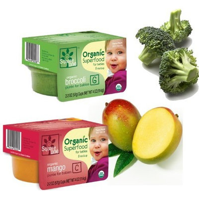 8 Month & Up Square One Organics Frozen Mango/Quinoa Mixed Pack - (12 Twin Packs), 24 individual 2 oz. servings