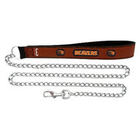 GameWear Oregon State Beavers Football Leather 2.5mm Chain Leash - M