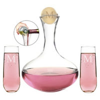 Cathy's Concepts Personalized Wedding Wine Unity Ceremony Set with Letter M