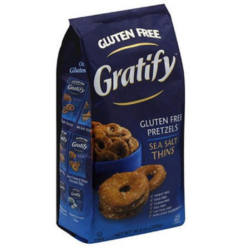 Generic Gratify Sea Salt Thins Gluten Free Pretzels, 10.5 oz, (Pack of 6)