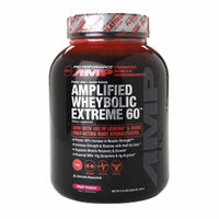 GNC Pro Performance AMP Amplified Wheybolic Extreme 60, Fruit Punch, 3.18 lbs