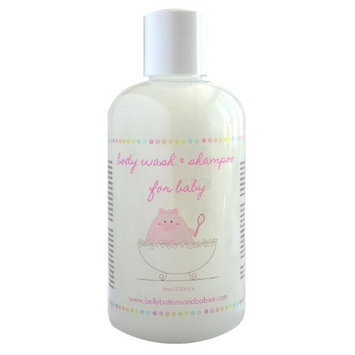Belly Buttons and Babies Body Wash & Shampoo, Lavender & Camomile, 8 Ounce