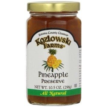 Kozlowski Farms Jam, Pinapple, 10.5-Ounce (Pack of 6)