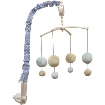 Bacati Dots Musical Mobile, Gray/Blue