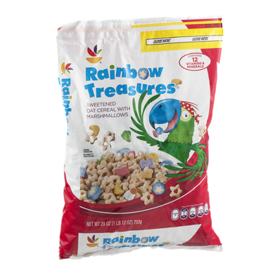 Ahold Rainbow Treasures Sweetened Oat Cereal with Marshmallows