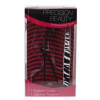 Precision Beauty Eyelash Curler & Slanted Tweezer Set, 1 set