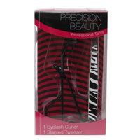 Precision Beauty Eyelash Curler & Slanted Tweezer Set, 1 set
