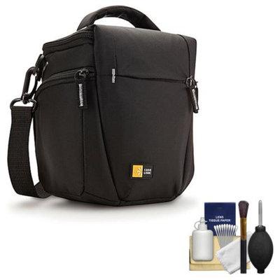 Case Logic TBC-406 Digital SLR Camera Holster Case (Black) with Cleaning Kit for Nikon D3100, D3200, D5100, D5200, D7000, D7100, D600, D800