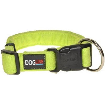 Dogline Comfort Microfiber Soft Padded Pet Puppy Dog Collar Nylon Reinforcement (4 sizes & 8 colors available)