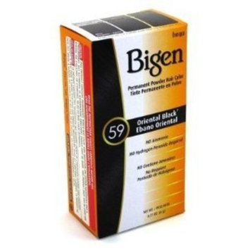 Bigen #59 Oriental Black Permanent Powder Hair Color 6 gram Bottle