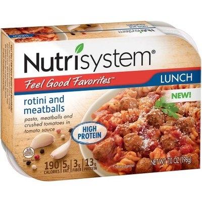 Nutrisystem Feel Good Favorites Rotini and Meatballs, 7 oz