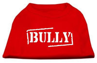 Mirage Pet Products 5122 MDRD Bully Screen Printed Shirt Red Med 12