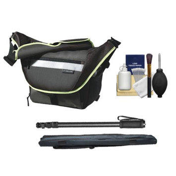 Vanguard Sydney 22 Messenger Digital SLR Camera Bag/Case (Olive) with Monopod + Accessory Kit
