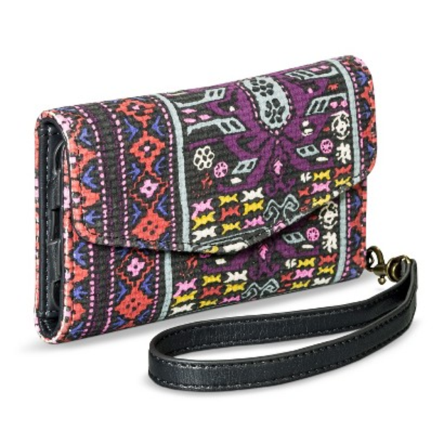 Merona Geometric Cell Phone Wallet with Removable Wristlet Strap -