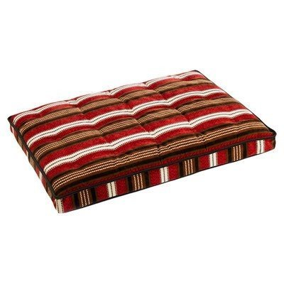 Bowsers Luxury Pet Crate Mattress Bowser Stripe Microvelvet, Size: Large