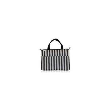 BlueAvocado 112489 Eco-Friendly Laptop Bag - Black Tuxedo Stripe