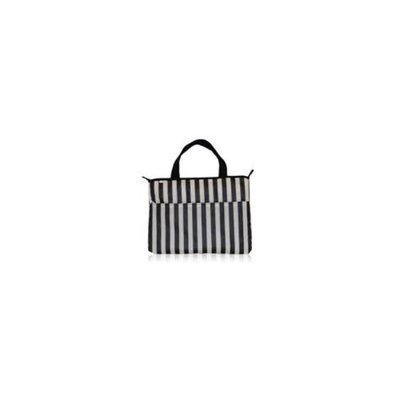 BlueAvocado 112489 Eco-Friendly Laptop Bag - Black Tuxedo Stripe