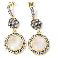 RICCOVA 14k Goldplated Crystal Circle Dangle Earrings