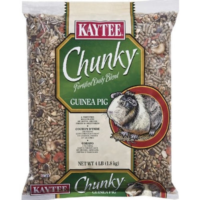 Kaytee Supreme Chunky Daily Blend for Guinea Pigs, 4-Pound