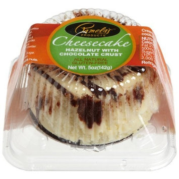 Pamela's Products Hazelnut Cheesecake , Chocolate Crust, 3-Inch Cakes (Pack of 8)