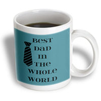 Recaro North 3dRose - PS Creations - Best Dad in the World Black Tie - Fun Fashion - Art - 11 oz mug