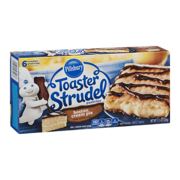 Pillsbury Toaster Strudel Pastries Boston Cream Pie - 6 CT