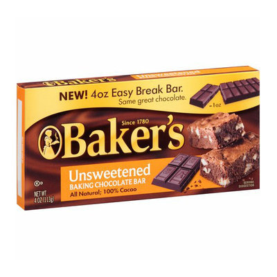 Kraft Baking & Canning Kraft Baker's Unsweetened Baking Chocolate Bar