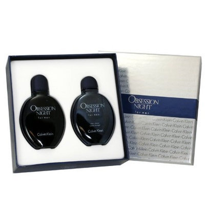 Obsession Night Cologne by Calvin Klein for Men. Gift Set ( Eau De Toilette Spray 4.+ Aftershave 4.0 Oz)