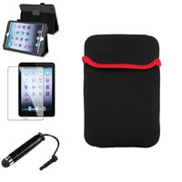Insten iPad Mini 3/2/1 Case, by INSTEN Black Leather Case Stand Cover+Stylus/Pouch for iPad Mini 3 2 1