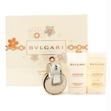 Bvlgari Omnia Crystalline by Bvlgari for Women 3 Piece Set Includes: 1.35 oz Eau de Toilette Spray + 2.5 oz Body Lotion + 2.5 oz Bath and Shower Gel