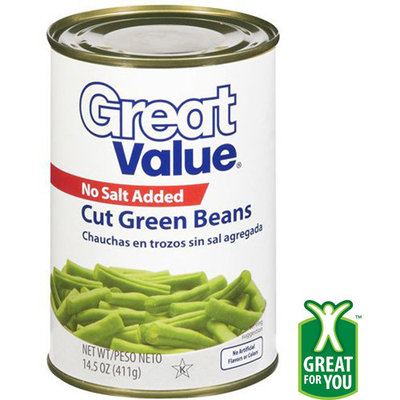 Great Value Cut Green Beans, 14.5 oz