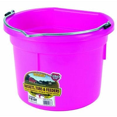 Miller Mfg Miller Manufacturing P8FBHOTPINK Plastic Flat Back Bucket for Horses, 8-Quart, Pink