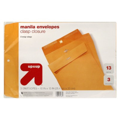 up & up up&up Clasp Envelopes Gold