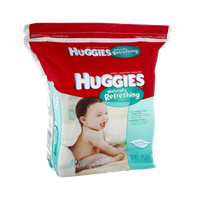 Huggies Naturally Refreshing Thick 'n' Clean Cucumber and Green Tea Baby Wipes - 184 CT