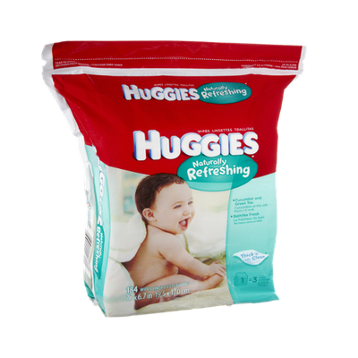 Huggies® Naturally Refreshing Thick 'n' Clean Cucumber and Green Tea Baby Wipes